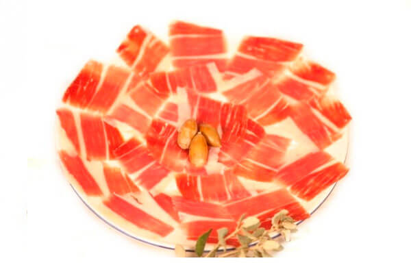 sliced iberian cold meats